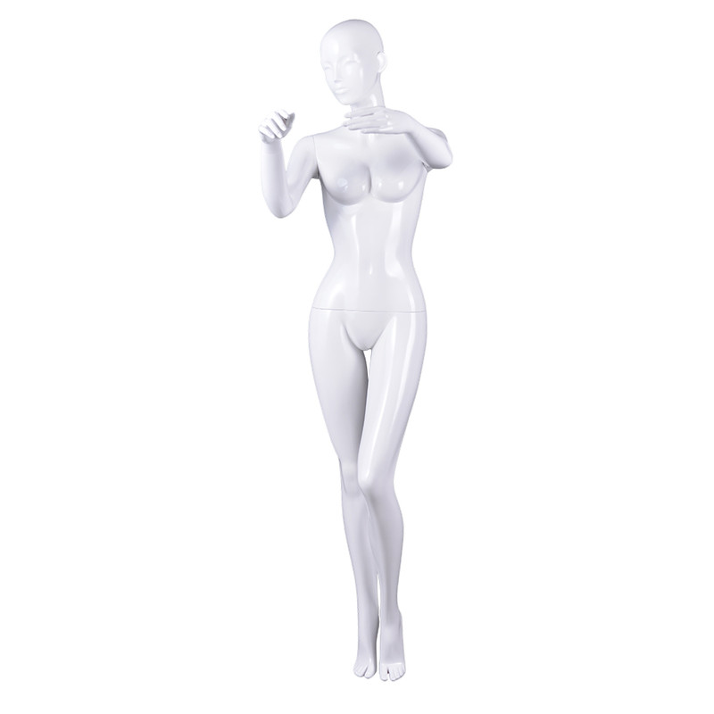 RNF-4 Glossy white color female full mannequin sexy female window display dummy mannequin
