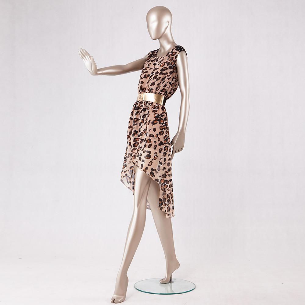 90-S2 Fashion female display dummy standing full body female fiberglass painting gloden mannequin