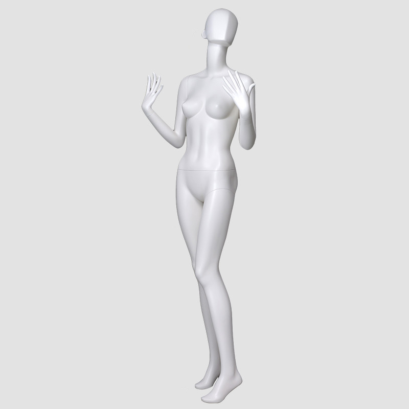 ELF-2 Fashion design standing mannequin female fiberglass women manikin manichini for window display