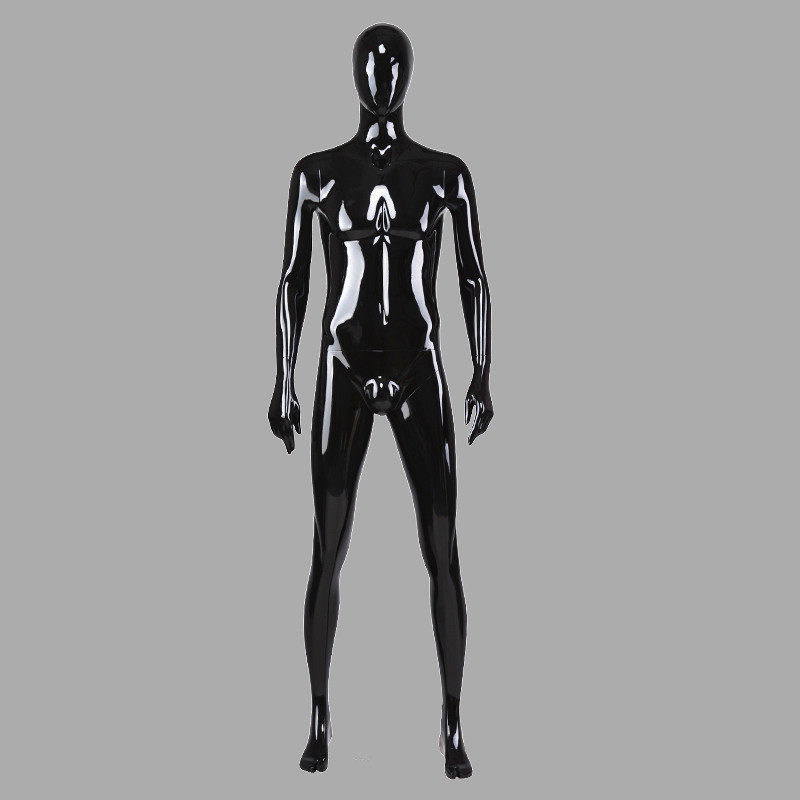 70-S1 Glossy black maniquis male fiberglass mannequins male clothes dummy