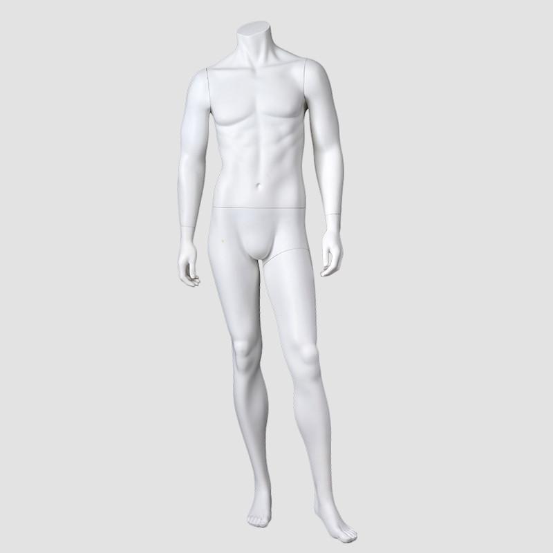 JB-1 Headless male mannequin muscle matt white ghost mannequin manikin male