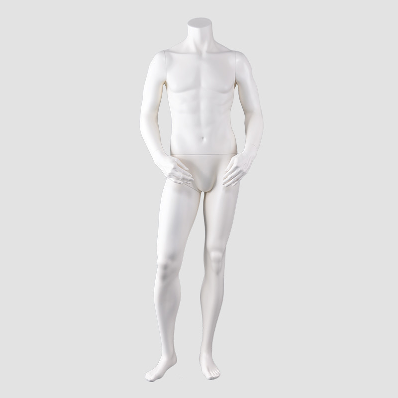 JB-7 Standing male mannequin white color headless maniquies men