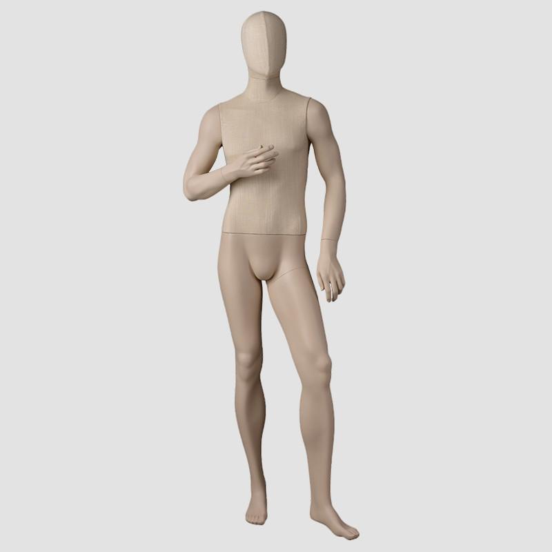 JB-11 Full body fashion fabric dress form mannequin male form brazilian mannequin