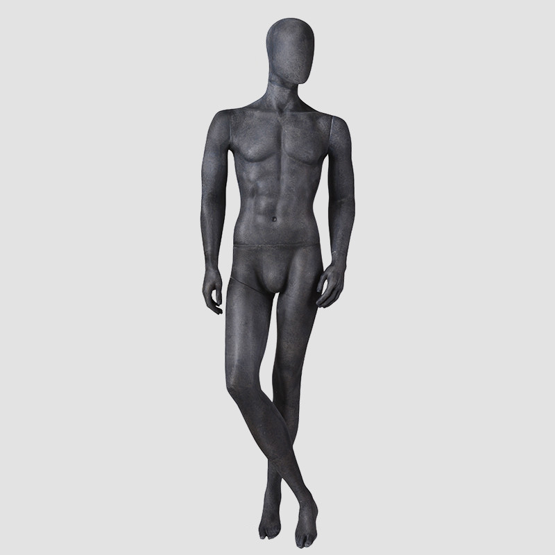 MPM-1 Black resin colour mannequin male ful body torso vintgae mannequin for museum