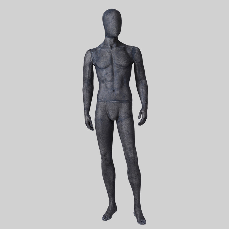 MPM-2 Vintage black male mannequin full body with egg head cheap male mannequin for sale