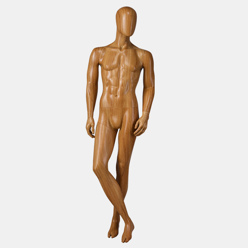 MPM-1 Life size dummy male cloth mannequin wooden color transferprinting male mannequin