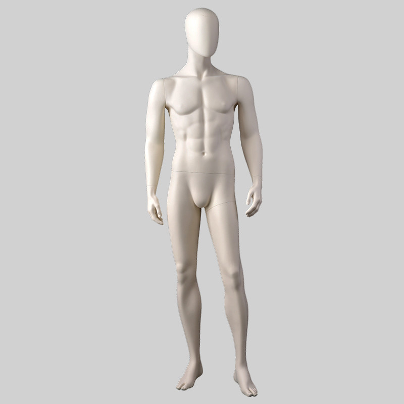 MPM-6 Sexy realistic male mannequin matt white color male suits mannequins