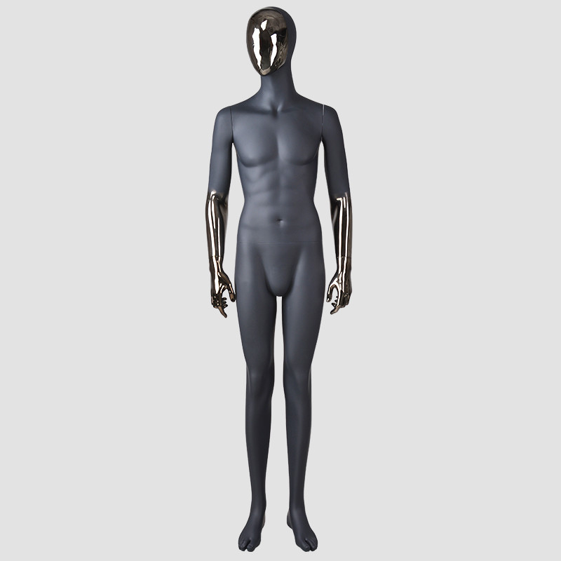 FJ-1 High end Euro fashion design plastic black male full body mannequin for window display