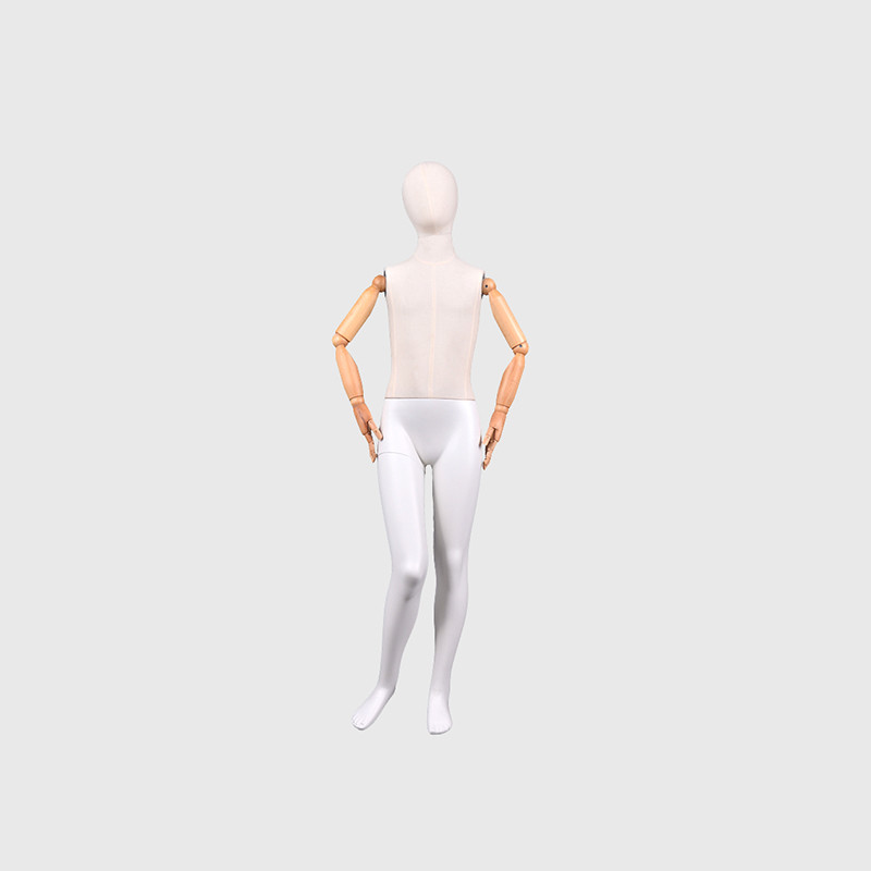 Child dress form mannequin full body with wooden arms