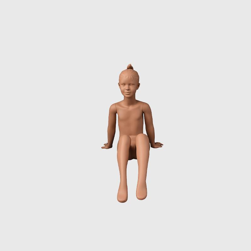 Realistic teenage girl mannequin child sitting