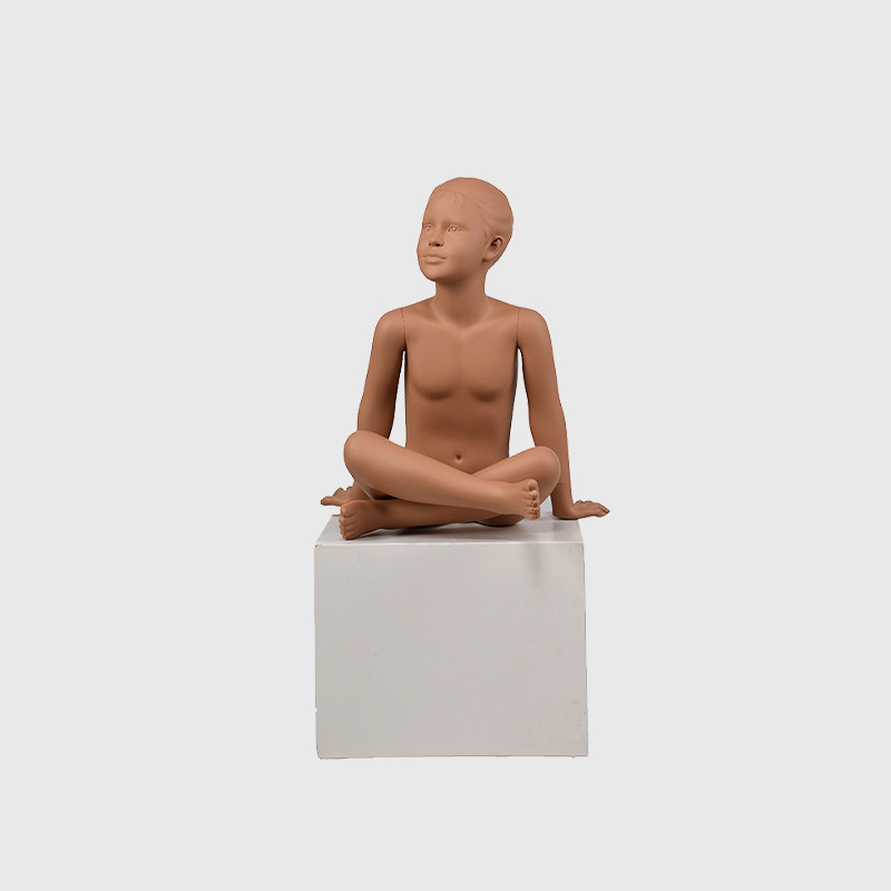 Realistic sitting girl mannequin