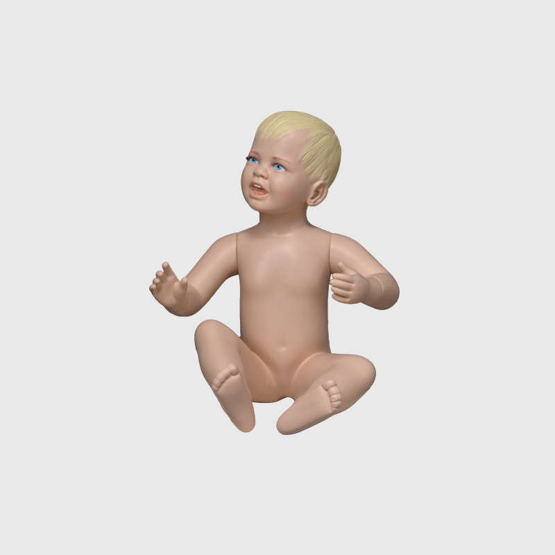 Realistic baby mannequin boy