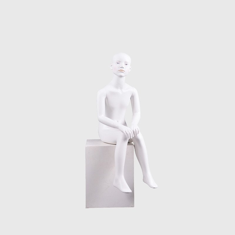 Make up kids mannequin realistic sitting boy mannequin