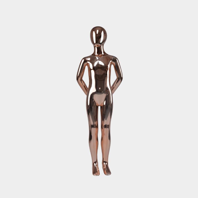 Glod chrome child mannequin custom kids mannequins for sale