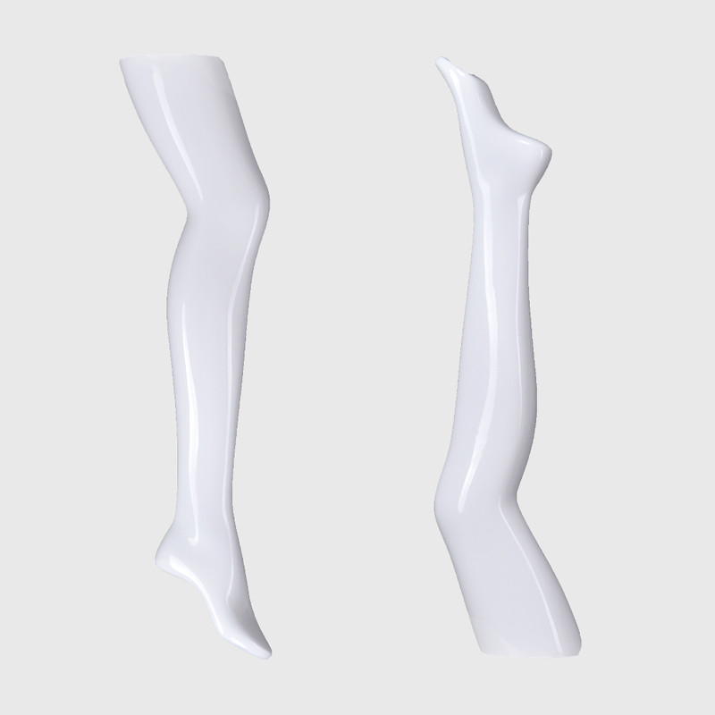 Female half mannequin legs foot display for long socks