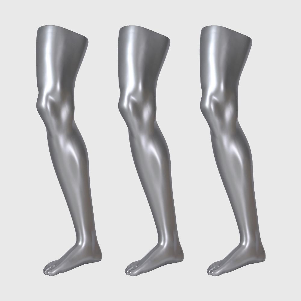 Sliver male sock mannequin sports long sock mannequin for sale