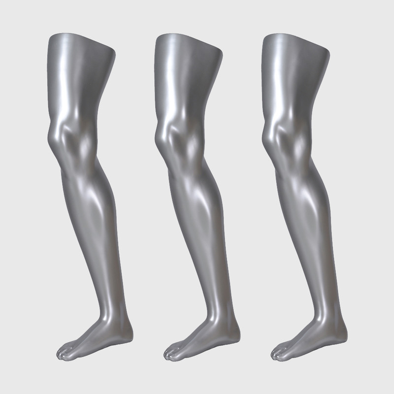 Sliver male sock mannequin sports long sock mannequin for sale