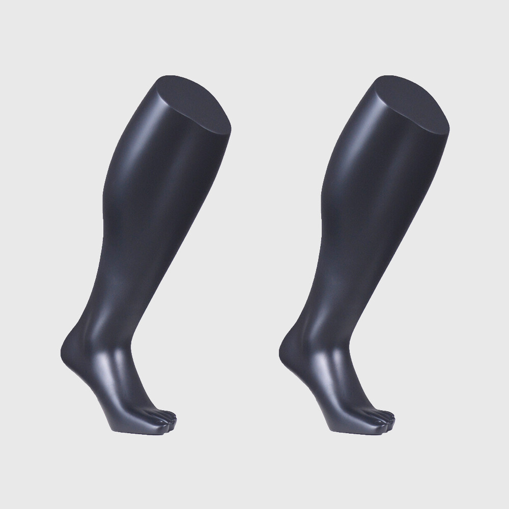Black sports mannequin foot male mannequin foot for socks