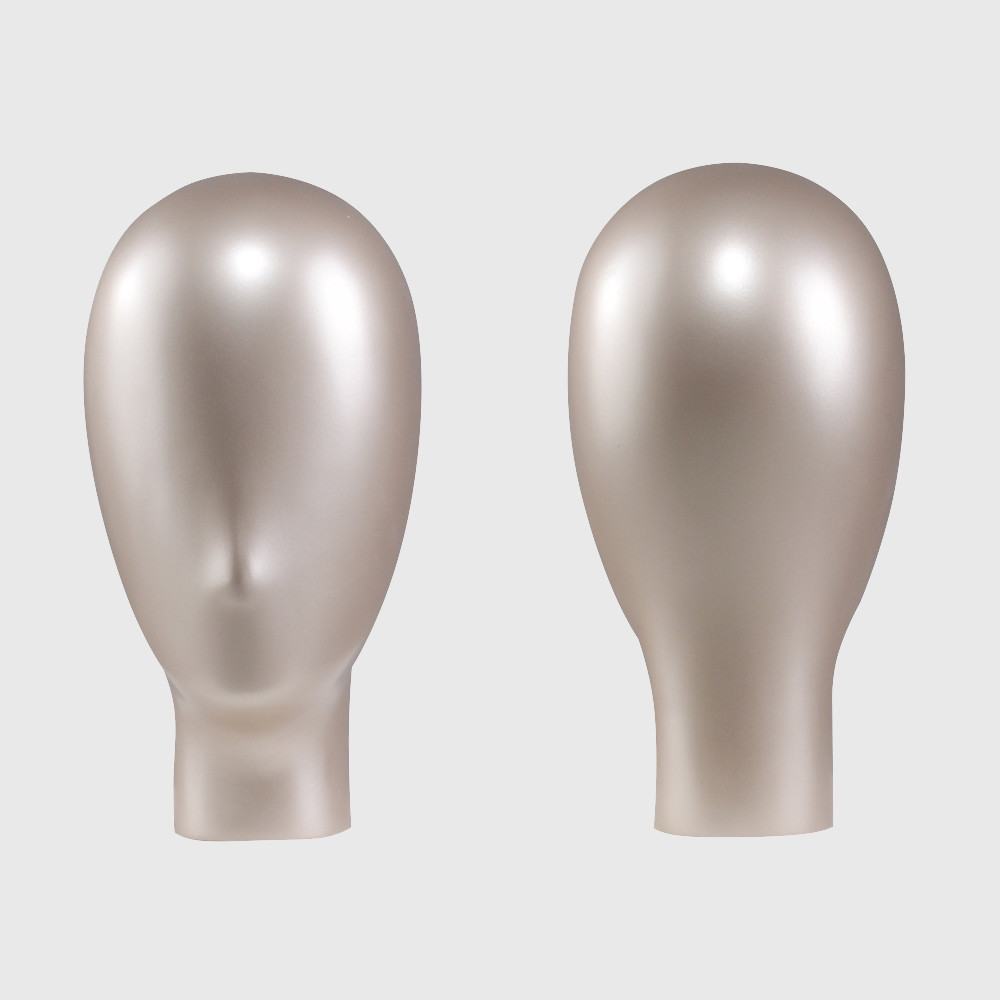 Golden female mannequin head for sale