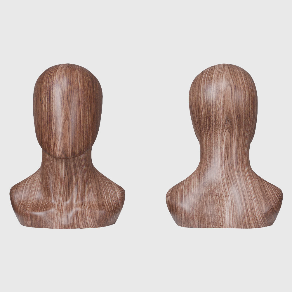 New design male mannequin head wooden color head mannequin
