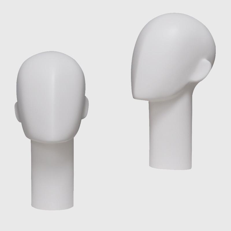 Female manikin head white female mannequin head
