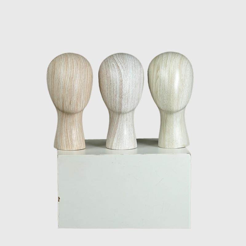 Factory custom wooden mannequin head watertransprinting mannequin head