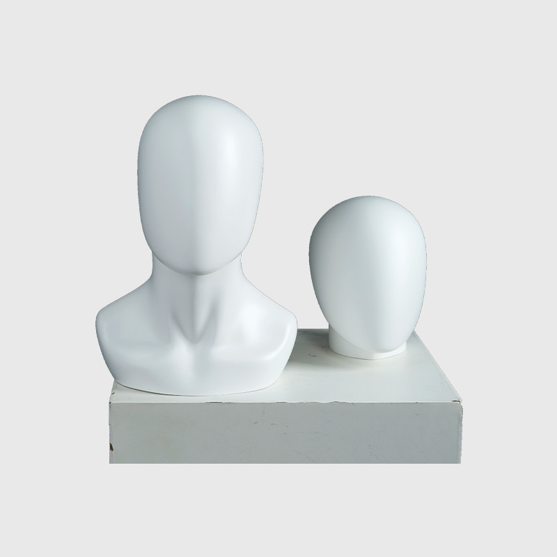 White egg head mannequin custom female and male mannequin head