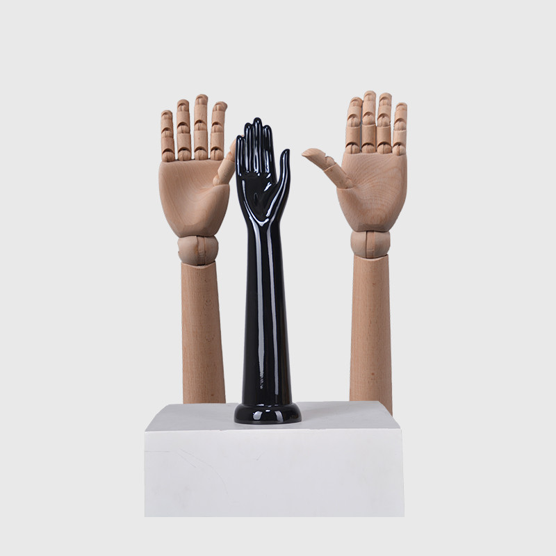 Articulated wood mannequin store display mannequin hand model for gloves