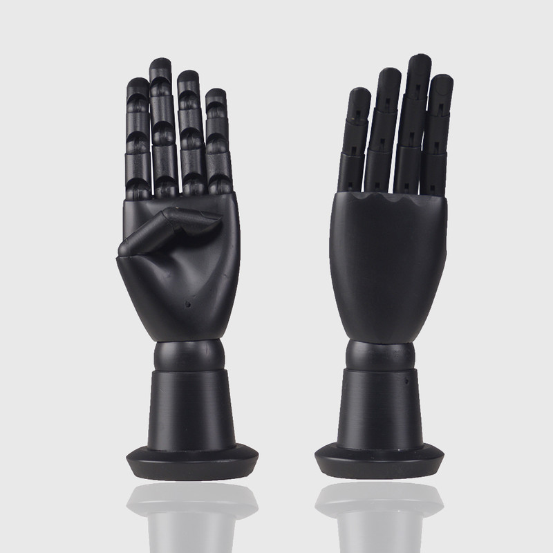 Flexible mannequin hand wood articulated hand for glove