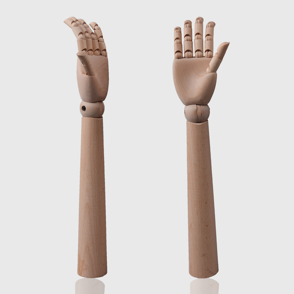 Long wooden hands mannequins adjustable mannequin hands for glove display