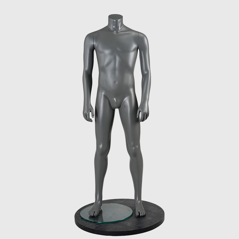 Standing headless muscle man male mannequin full body sports mannequin
