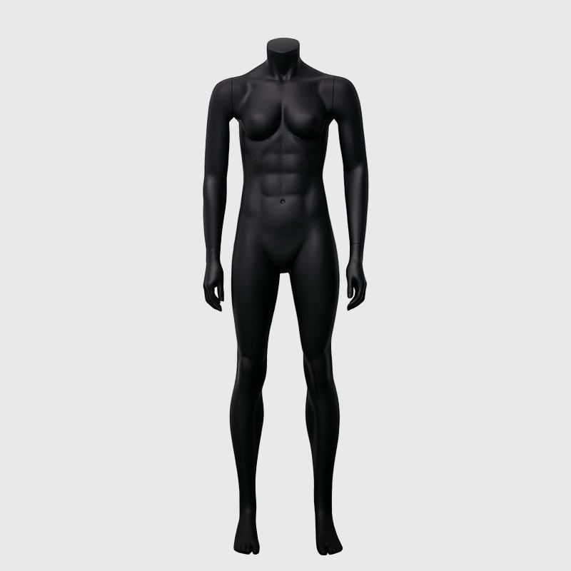 Standing big muscle mannequin female black female mannequin