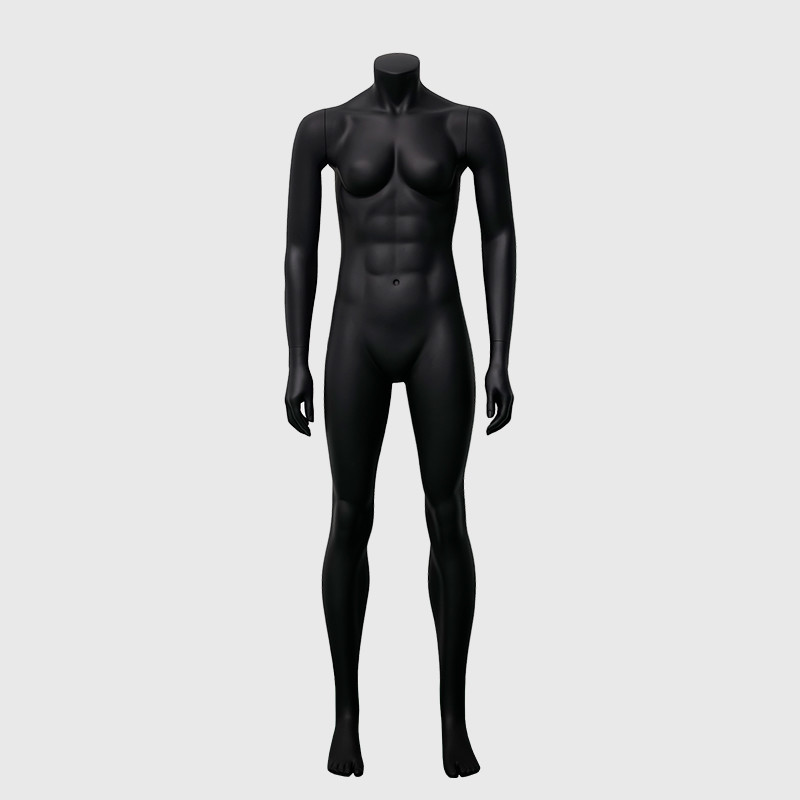 Standing big muscle mannequin female black female mannequin