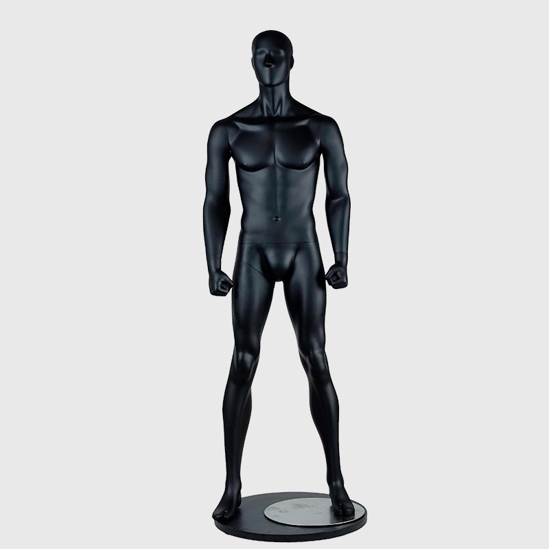 Realistic male muscle mannequin black strong musclar mannequin men