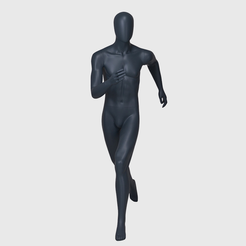 Walking male mannequin sports mannequin muscle male
