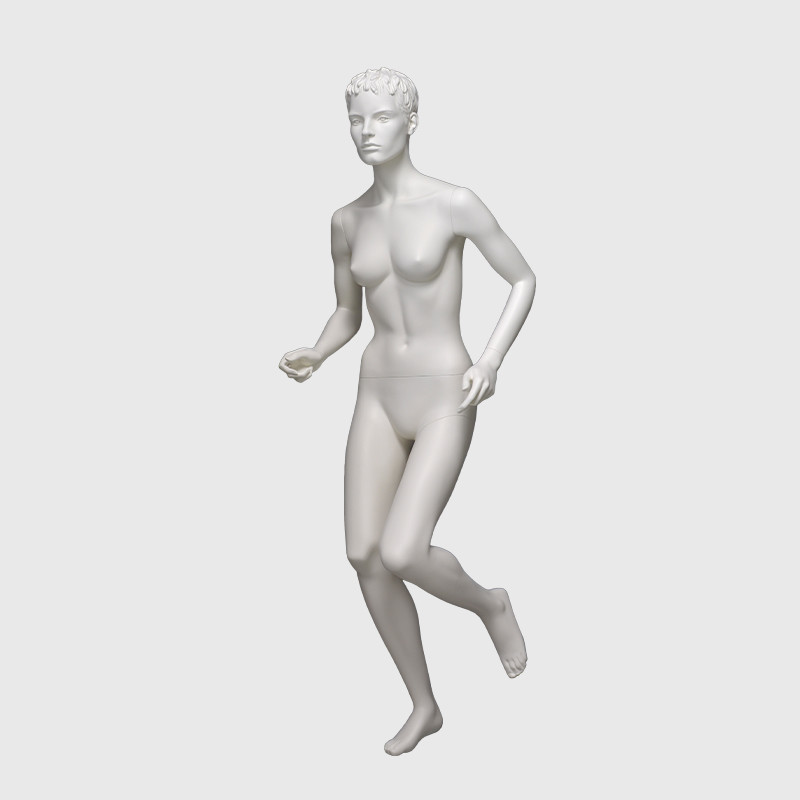 White sport action mannequin muscle female