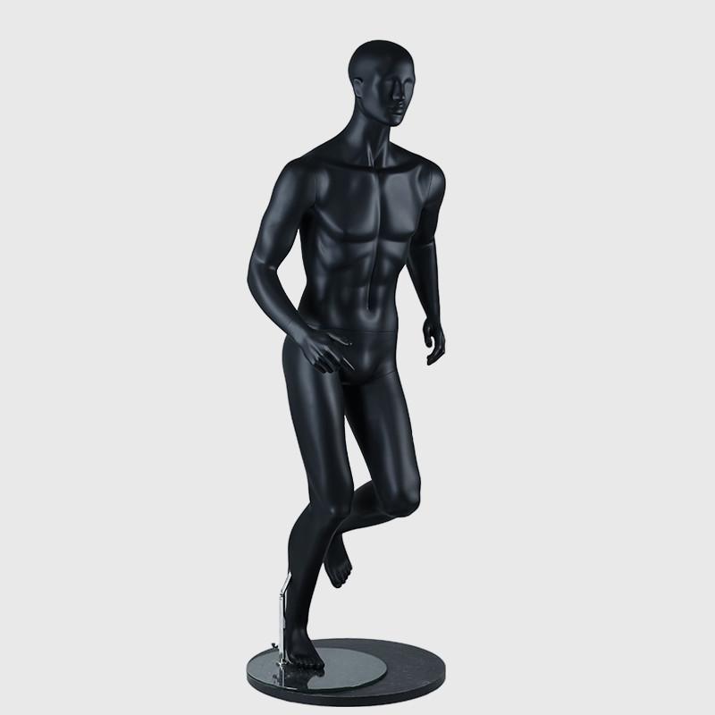 Black sport mannequin male muscle full body running mannequin