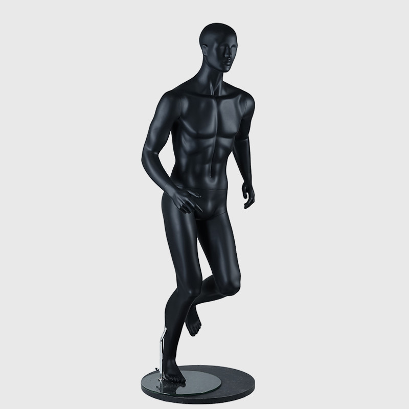 Black sport mannequin male muscle full body running mannequin