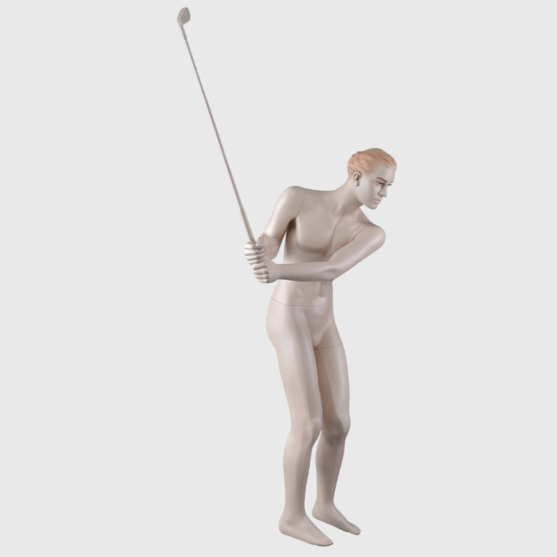 Lifelike male mannequin makeup golf mannequin