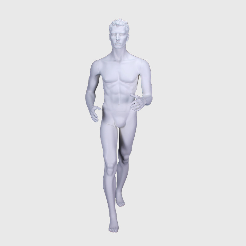 Running mannequin men full body action male mannequin