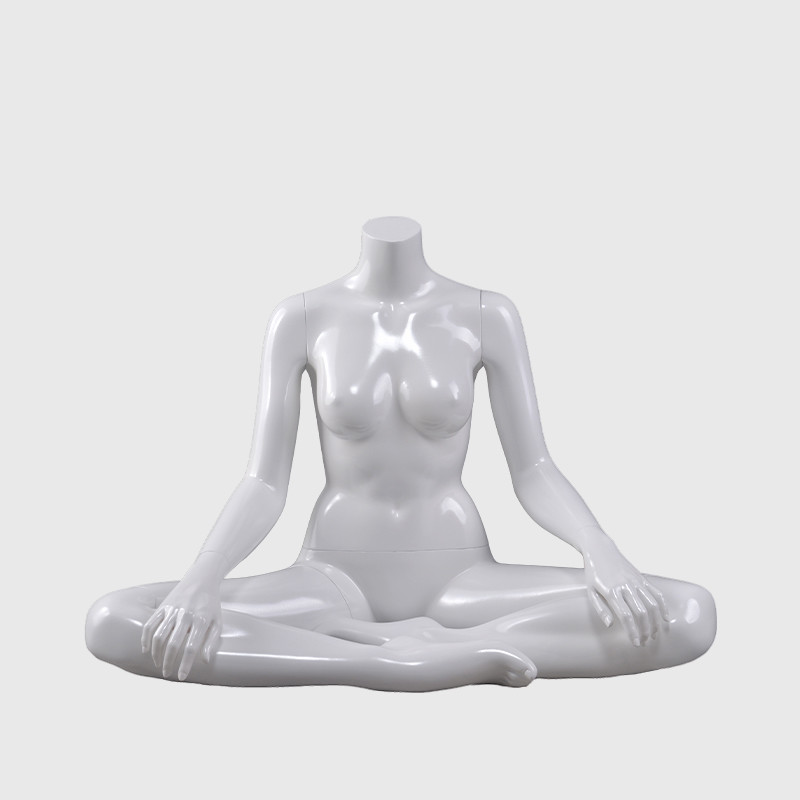 Sitting female yoga headless mannequin