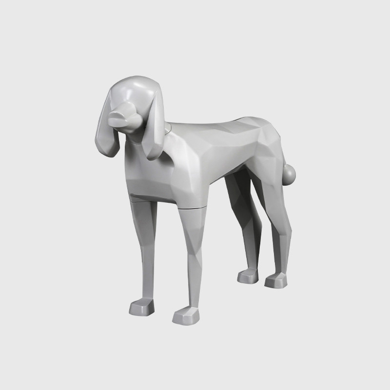 Grey fiberglass animal model animal manikin dog