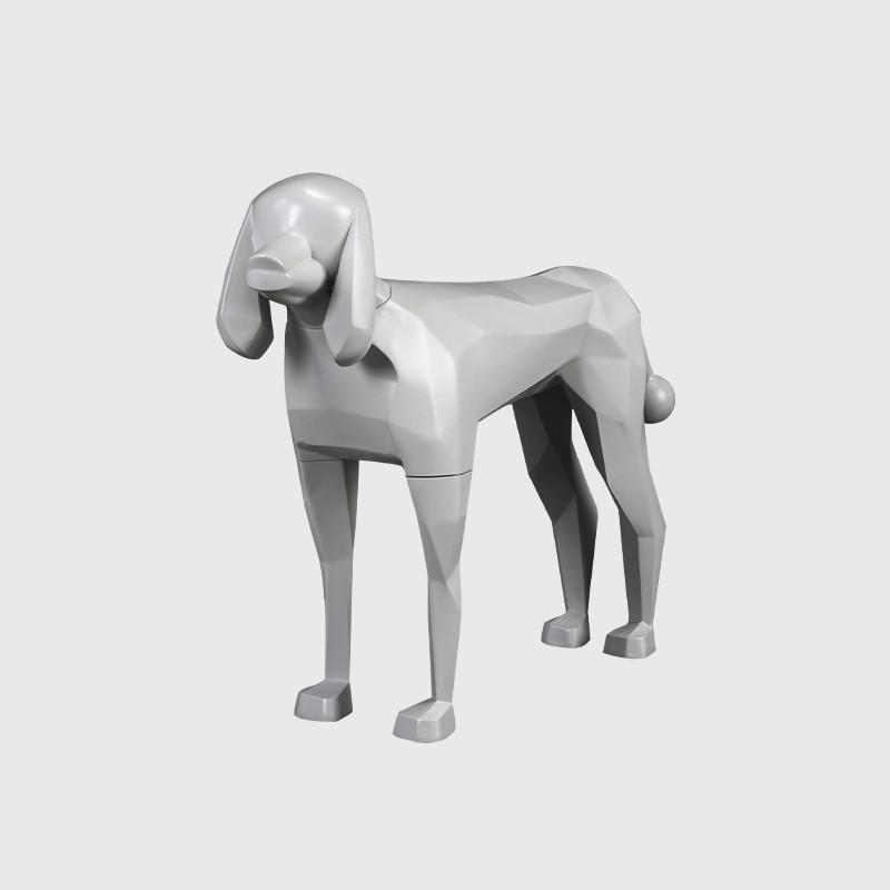Grey fiberglass animal model animal manikin dog