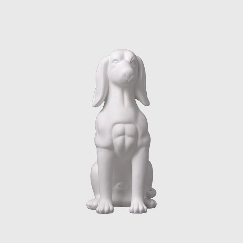 White dog mannequin fiberglass animal mannequins