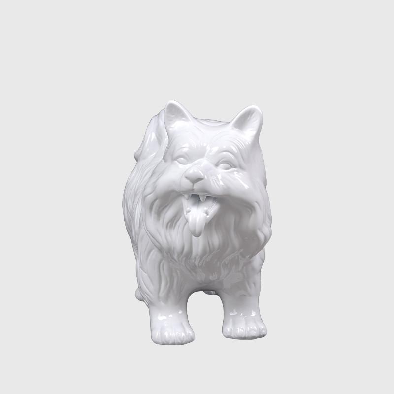 Fashion white dog mannequin display