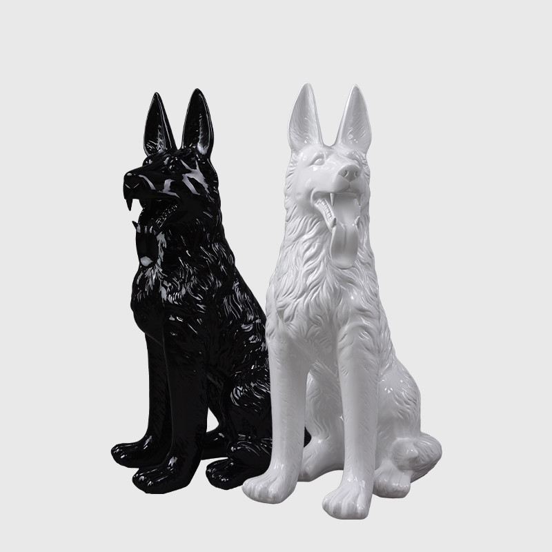 Fierglass dog mannequin model display