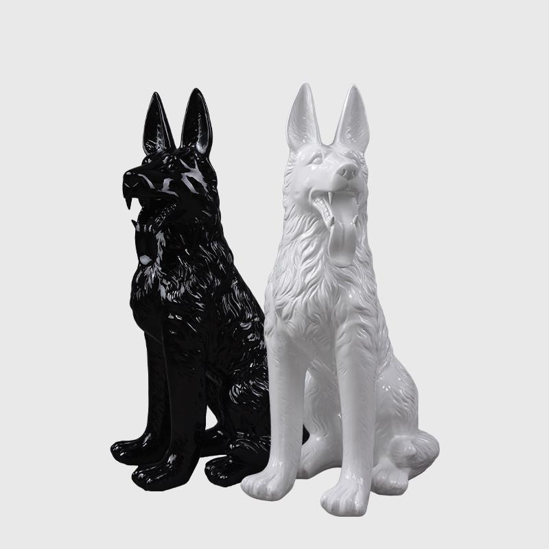 Fierglass dog mannequin model display