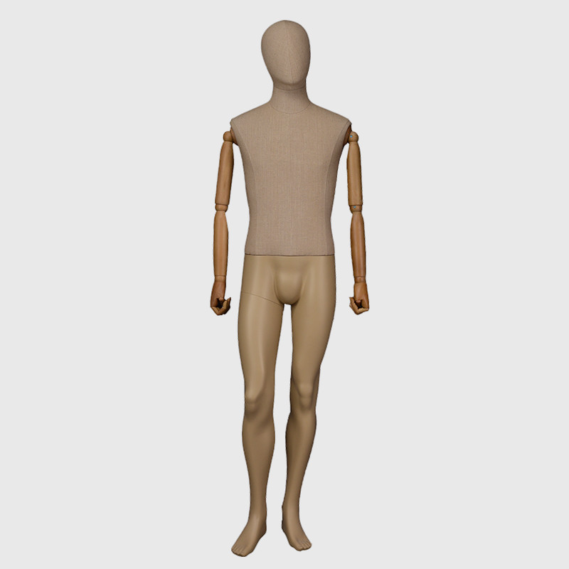 Adjustable abstract male mannequin for clothes display