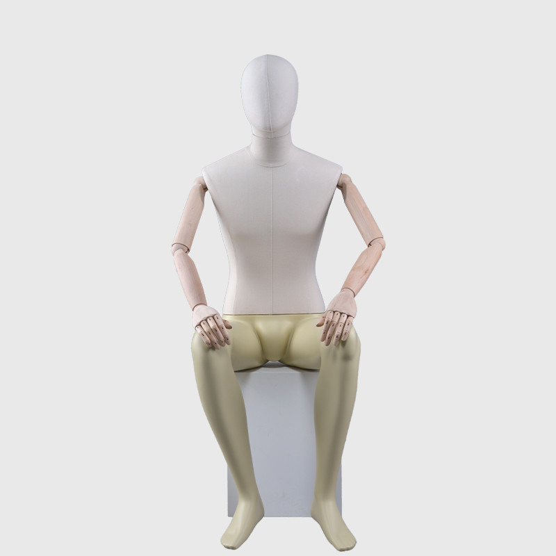 Sitting male mannequin display used