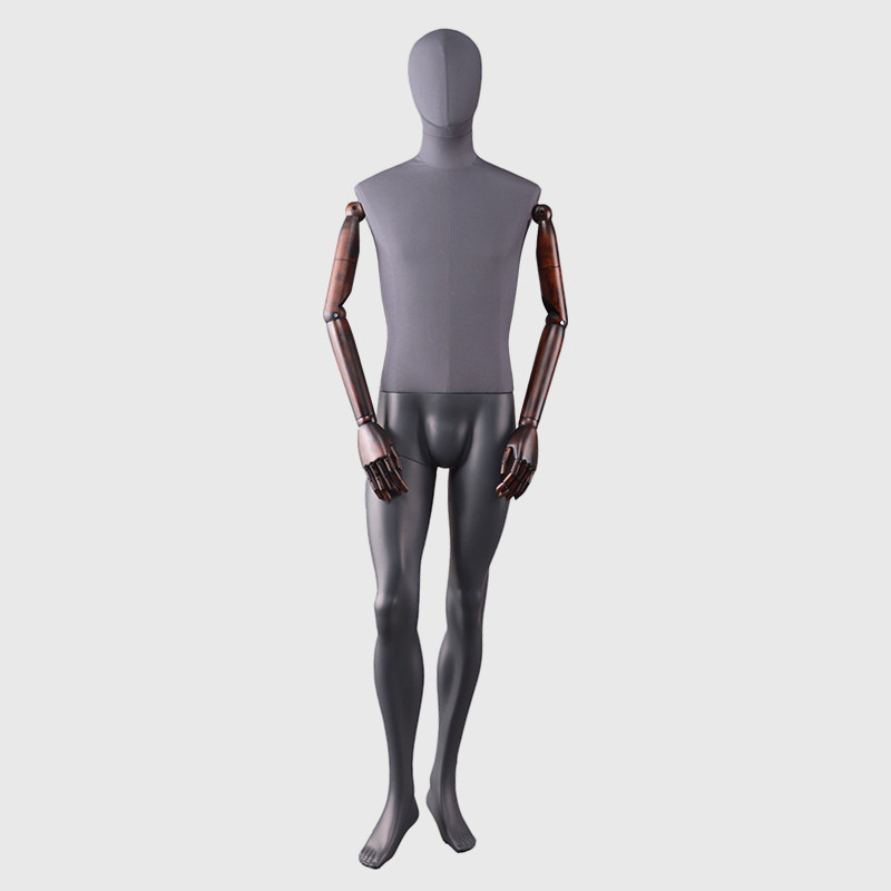 Fashion male mannequins egghead linen mannequin full body